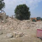Completa demolizione del fabbricato