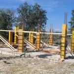 realizzazione dei pilastri al piano terra