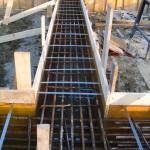 Armatura travi di fondazione su pali trivellati