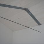 Solaio di copertura in legno e acciaio