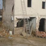 Ripresa della muratura con interventi di ricostruzione