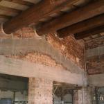 Rifacimento solaio di copertura con travi in legno massello, filetti e pianelle