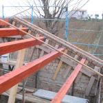 Montaggio travi in legno di copertura