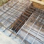 Armatura nuova trave calata ancorata a fondazione esistente
