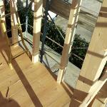 Montaggio pareti in legno piano primo