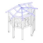 Modello tridimensionale della struttura in legno