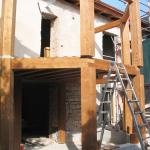 Montaggio struttura in legno