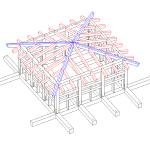 Modello tridimensionale piano sopraelevato