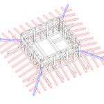 Modello tridimensionale con copertura bassa