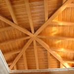 Vista copertura in legno