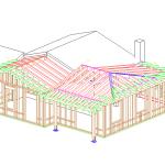 Modello tridimensionale della nuova struttura collegata al fabbricato esistente