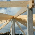 Fissaggio travi di copertura su pilastri perimetrali