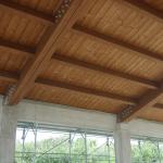 Piastre di fissaggio travi principali in legno su travi in c.a. perimetrali